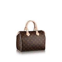 Authentic Women's Vintage Louis Vuitton Speedy 30 Brown Monogram Travel Bag