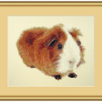 Reds have more fun, Cross Stitch Kit guineapig, guinea pig, pet, animal, cute, beginner