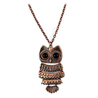 Wise Owl Necklace on Sale for $16.95 at The Hippie Shop