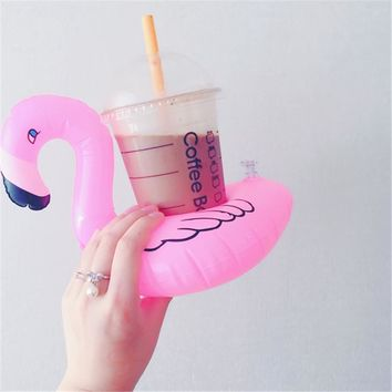 Mini Water Coasters Boia Flamingo Floating Inflatable Cup Holder