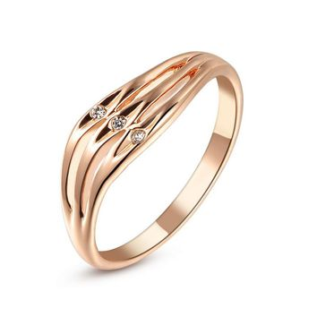 Brand TracysWing Rings for Women Genuine Austria Crystal  18KRGP gold Color  New Sale  Hot #RG91736Rose