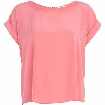 Light pink raglan sleeve t-shirt - t-shirts - tops - women