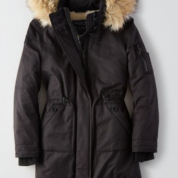AEO Women's Tundra Parka (True Black)