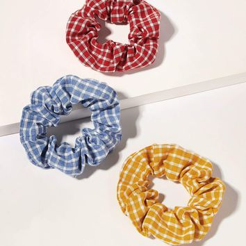 Ginham Hair Scrunchies 3pack