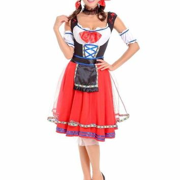MOONIGHT Women Sexy Halloween Party Beer Festival French Maid Costumes Outfit Fancy Maid Cosplay Dresses Macchar Cosplay Catalogue