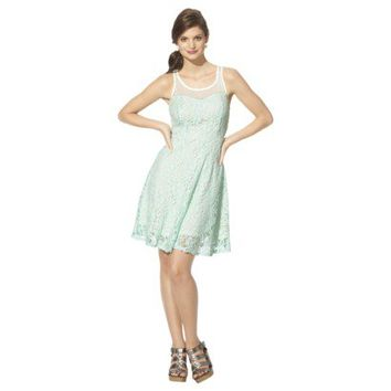 Xhilaration® Juniors Mesh Detail Lace Fit & Flare Dress - Assorted Colors