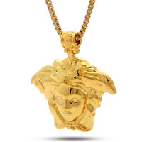 14K Gold Medusa Necklace