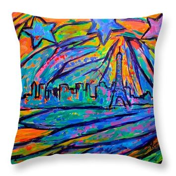 Paris Burst Throw Pillow