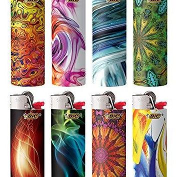 BIC Special Edition Bohemian Series Lighters, Set of 8 Lighters Best Selling Bic, Flick Your Bic!