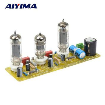 ac NOOW2 Aiyima Vacuum Tube amplifiers 6N1+6P1 Valve Stereo Amplifier Board Filament AC Power Supply + 3pcs Tubes