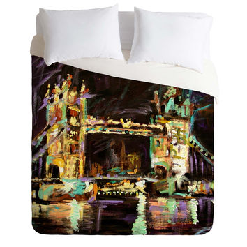 Ginette Fine Art Tower Bridge London Duvet Cover