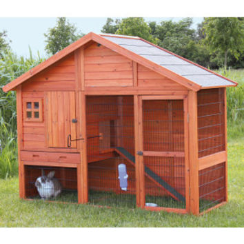 Trixie Gabled Roof Rabbit Hutch | Hutches | PetSmart