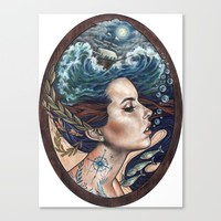 Lost At Sea Canvas Print by Wendy Ortiz