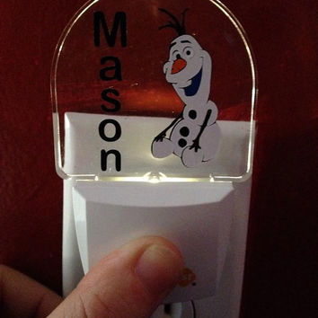 Custom Made Vinyl Auto Sensor Nightlight - Personalized Just For YOU - Any Design