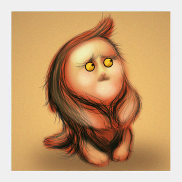 Gluby Says Don't Be Scared - Brown Back Square Art Prints | Artist : Nitin Kapoor