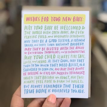 Wishes for Your New Baby Card