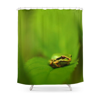 Society6 Green Tree Frog... Shower Curtain