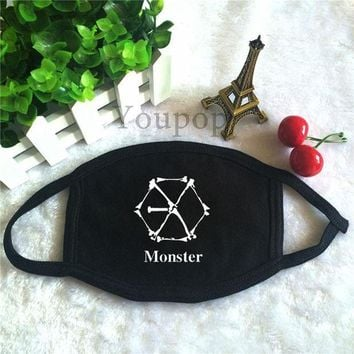 DCCKH6B KPOP EXO EX'ACT 3th Album Vol.3 Monster Logo Dust Cotton Mouth-muffle Face Mask Maschere Antipolvere Masques KZ143