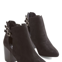 ModCloth Hustle and Buckle Bootie