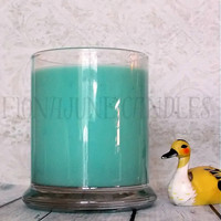 Ocean Breeze Soy Candle, Turquoise Candle, Beach Candle Vegan Soy Candle