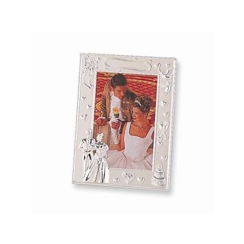 Silver-plated Wedding Photo Frame - Engravable Personalized Gift Item