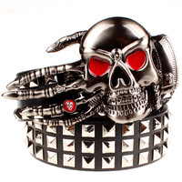 Skull Belt Heavy Metal Rivet 9 Styles FREE SHIPPING!!!