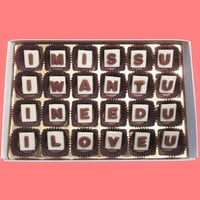 I Miss Want Need Love You Marble Chocolate Letters