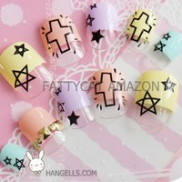 FASHION JAPANESE 3D NAIL ART_Sunshine_ 24 nails Sold By FATTYCAT