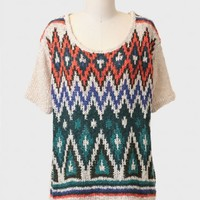 Sights To See Aztec Sweater Top