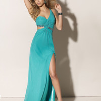 WowDresses — Enchanting One-shoulder Empire Waist Split Side Prom Dress