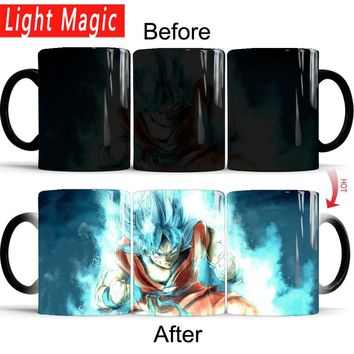 Dragon Ball Z Super Saiyan Goku blue hair Mug Color Changing Mugs