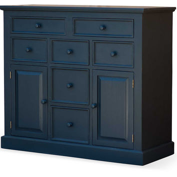 Coastal Chic Storage Chest, Slate, Cabinets & Hutches