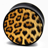 Grunge Leopard Print BMA Power Plugs (2mm-60mm)