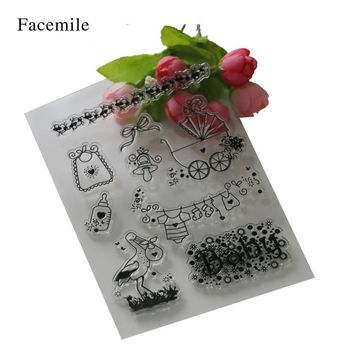 Facemile Baby Transparent Clear Stamp DIY Silicone Seals Scrapbooking/Card Making/Photo Album Decoration Crafts YS062 Gift