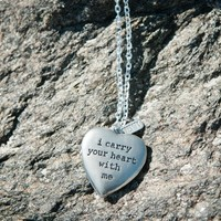 I carry your heart with me - PRET*TY locket sold by PRET*TY