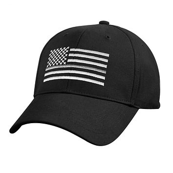 Rothco Thin Silver Line Flag Low Pro Cap