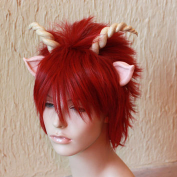 Satyr costume wig - pan costume / Dionysus costume / fawn costume / brony