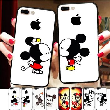Minason Funny Cartoon Minnie Mickey Mouse Lover Kiss Couple Case ca0f158f1d09c
