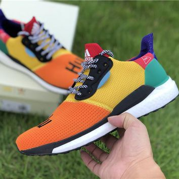 [Free Shipping ] Pharrell Williams Multi-Color Adidas Solar HU Glide ST BB8042 NMD Basketball Sneaker