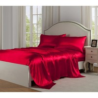 Satin Sheets - Luxury Linens Satin Charmeuse Sheet Sets