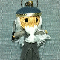 Dumbledore Harry Potter Series Voodoo String Doll Funny Toys Games Figure Collection Keyring Keychain Key Ring Chain Bag Car Decor Boy