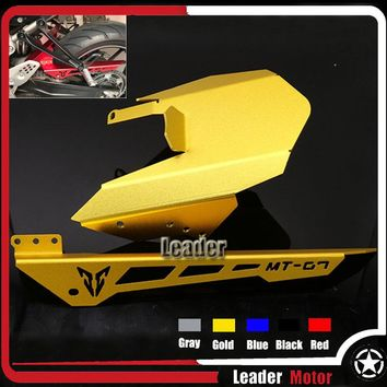 For YAMAHA FZ 07 MT 07 MT-07 FZ-07 2014 2015 2016 2017 Motorcycle Accessories Rear Tire Hugger Chain Guard 1 Set