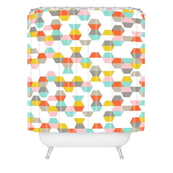 Heather Dutton Hex Code Shower Curtain