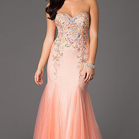 Long Embellished Strapless Sweetheart Panoply Gown
