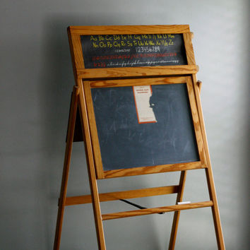 slate chalkboard easel by everyeskimo on Etsy