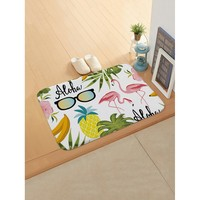 Tropical Print Door Mat