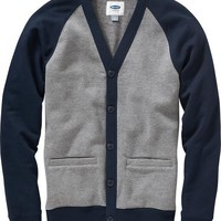 Men's Fleece V-Neck Cardigans