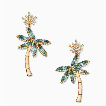california dreaming palm tree statement earrings