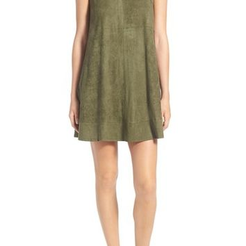 Ten Sixty Sherman Faux Suede A-Line Dress | Nordstrom