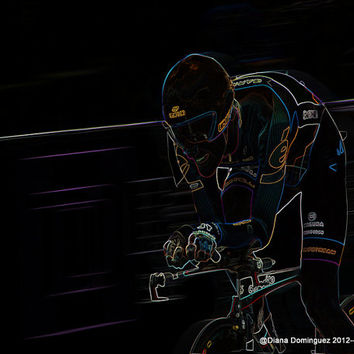 Solo Rider -  U.S Cycling III 8x10 Abstract Photography Print
